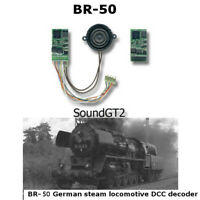 BR-50 German steam locomotive SoundGT2.1 DCC decoder for Roco,Piko, Marklin etc