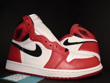 2015 Nike Air Jordan I Retro 1 High OG CHICAGO BULLS WHITE BLACK RED BRED DS 9.5
