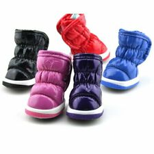 Dog Puppy Snow Booties Winter Warm Anti-Slip Shoes Pet Cat Protective Boots Set