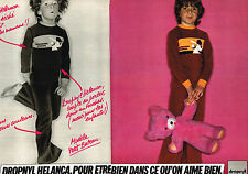 PUBLICITE ADVERTISING  1978   DROPNYL HELANCA  pyjamas (2 pages)