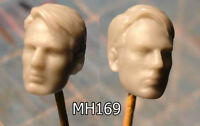 "MH169 Custom Cast Sculpt part Male head cast for use with 3.75"" action figures"