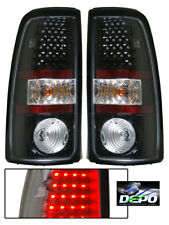 00-07 Chevrolet Silverado 2500 LED Tail Lights BLK DEPO