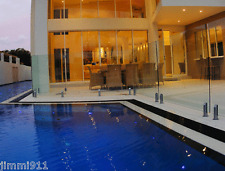 FRAMELESS GLASS POOL FENCING, MARINE GRADE S/STEEL SPIGOTS WE CAN FREIGHT