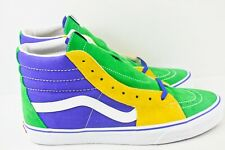 Vans SK8 Hi Purple Gold Mens Size 10.5 Skateboarding Shoes White Green