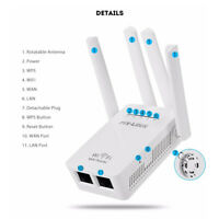 Wireless WiFi WLAN Repeater Verstärker Extender Router 2.4 GHz mit 4 Antenne
