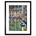 Venice Canal Italy Boat Art Framed Wall Art Print