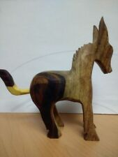 Mexican hand carved wooden donkey donkey´s tale can change position  see pic