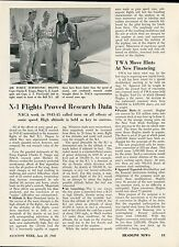 1948 Aviation Article Research Flights of Bell X-1 Super Sonic Speed