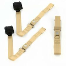 Ford Bronco 1980 - 1996 Standard 2pt Tan Retractable Bench Seat Belt Kit - 3 Be