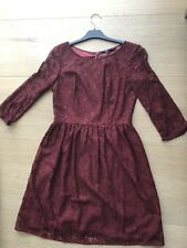 Brand New With Tag French Connection Burgundy Red Lace Dress Size 10