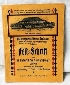 Männergesangverein Gerlingen Festschrift 22. Liederfest 22. Juni 1924