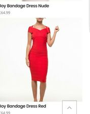 beckys dresses boutique small red bandage dress