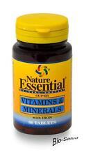 VITAMINAS & MINERALES 60 COMPRIM. NATURE ESSENTIAL / DIENTES -  HUESOS  NE2090