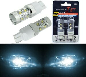 LED Light 50W 7443 White 6000K Two Bulbs Front Turn Signal Replacement OE Fit