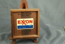 Vintage Exxon Credit Card Center Card Shadowbox - 1971-1994
