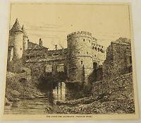 1887 magazine engraving ~ Metz, France ~ PORTE DES ALLEMANDS Thor