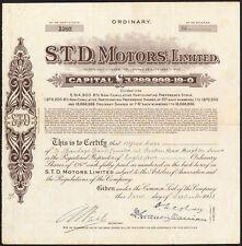 S. T. D. Motors LTD, 1s6d actions ordinaires, 1933