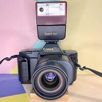 Canon T80 SLR Camera + 50mm + 35-70mm AC Lens & 244t Flash Film Tested! Lomo