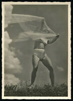 1937 Germany 3rd Reich Postcard German Hitler Beach Beauty Racy Risque Veil RPPC