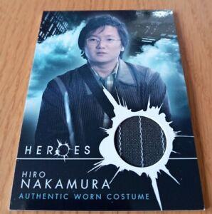 HEROES: THE BEGINNING COSTUME TRADING CARD BY TOPPS 2008 TV SERIES HIRO NAKAMURA