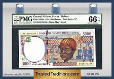 TT PK 404La 1994 CENTRAL AFRICAN STATES 5000 FRANCS PMG 66 EPQ POP 1 NONE FINER