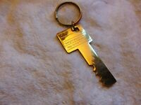 VINTAGE WEIGHT WATCHERS BRASS KEY TO THE FUTURE KEY CHAIN