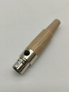 Mini XLR beige - 3 pol Stecker - female