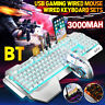 Wireless LED Gaming Keyboard & Mouse Set Multi-Colored Backlight Mice Mechanical
