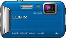 NEW Panasonic DMC TS30PC-A 16MP 2.7in LCD Lumix Waterproof Digital Camera - Blue