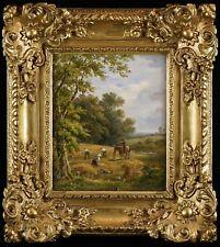 Henry Earp Senior, 1893 - Superb Landscape Oil Painting in Carved Gilt Frame
