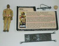 1983 GI Joe Medic Doc v1 Doctor Dr Figure w/ File Card *Complete READ* BROKEN
