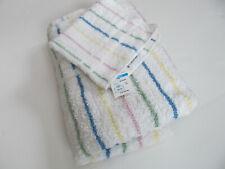 "Revere Mills 100% Cotton Bath Towel & Matching Wash Cloth 27"" X 54"" Stripes G"