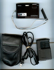 Nikon Coolpix S60 10MP Digital Camera,Mint- Cond+Case+Charger+8GB SD Card,MANUAL