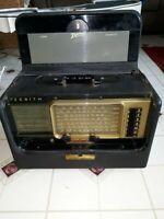 Vintage 1958 Zenith Trans Oceanic Wave Magnet Tube Radio Model A600