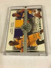 2003-04 SP GAME USED DOUBLE DUAL PATCH KOBE BRYANT DEREK FISHER JSY /100