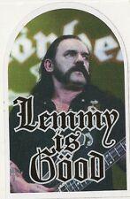 """sticker MOTORHEAD  """" Lemmy is good """" 85mm x 54mm"""