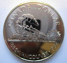 1986 CANADA VANCOUVER CENTENNIAL BRILLIANT UNCIRCULATED SILVER DOLLAR COIN