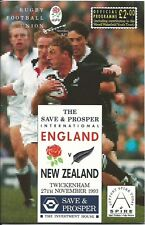 ENGLAND v NEW ZEALAND RUGBY UNION PROGRAMME 27 NOV 1993