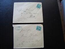FRANCE - 2 enveloppes 1881 (timbre yvert et tellier n° 75 tout etat) (B16)
