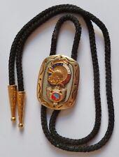 Cravate américaine avec Insigne AMAC TOULON UF ANCIENS COMBATTANTS bolo tie