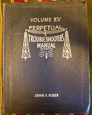 Rider Perpetual Troubleshooter's Manual XV 15 w/Hallicrafters Hammarlund Scott