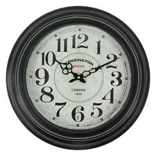 "Large Glass Fronted Shabby Chic Wall Clock. 43cm Diameter (16"" +) HLZ.6165CMH"