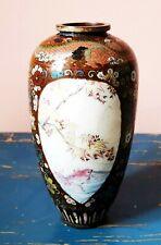 Antique 19th. Century Japanese Cloisonné Metal Vase - Dragon and other decor