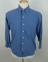 Abercrombie Boys Cotton LS Button Down Blue White Checkered Dress Shirt Youth L