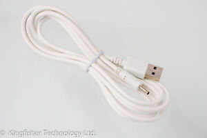 2m USB White Charger Power Cable for Philips Gogear nw0005c4055614 MP3 Player