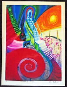 ORIGINAL PRINT Arthur Robins Oil Painting NYC Artist Jesus Christ door to Heaven