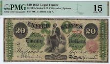 Us Legal Tender - 1862 - $20.00 - Fr 124b - Pmg Choice Fine 15 - Civil War!