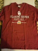GUC pre-owned Oklahoma Sooner 2011 Fiesta Bowl Long Sleeve t-shirt Size XL