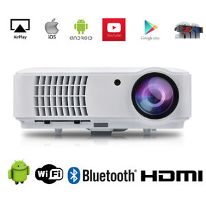 4K Max 1080P Native Bluetooth Android WiFI Projector Smart Home LED Projector 3D