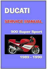 DUCATI Workshop Manual 900SS 900 Super Sport SuperSport 1989 1990 Service Repair
